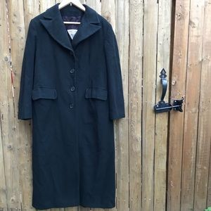 Marvin Richards Black Cashmere Trench Coat